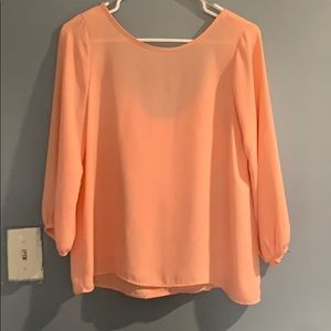 Sherbet Orange blouse with bow🎀 on the back